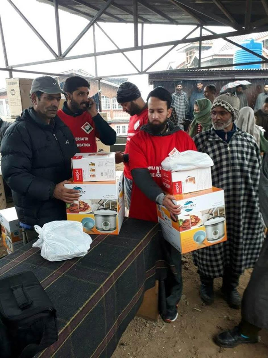 Minhaj Interfaith and Welfare Foundation delivered winter relief to SRINAGAR